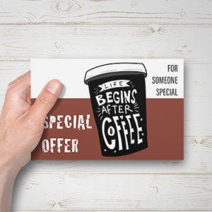 Enkelzijdig geprinte briefkaart. Formaat 148x105